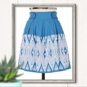 Anthro Floreat Winston Embroidered Skirt Size 2